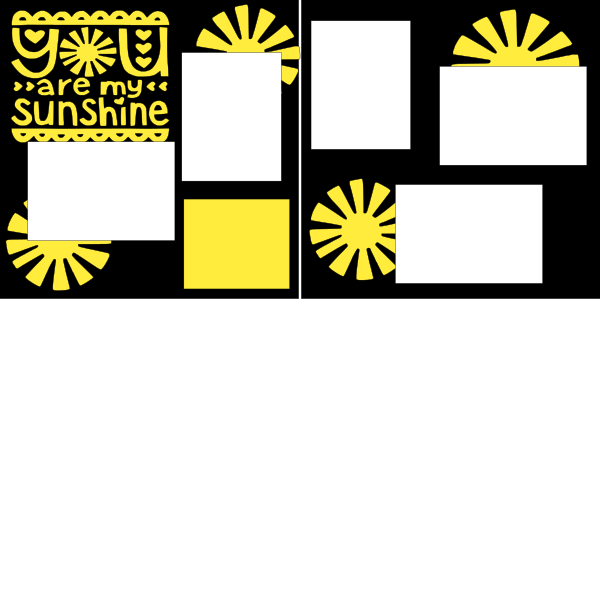 YOU ARE MY SUNSHINE (HEARTS)  -basic page kit