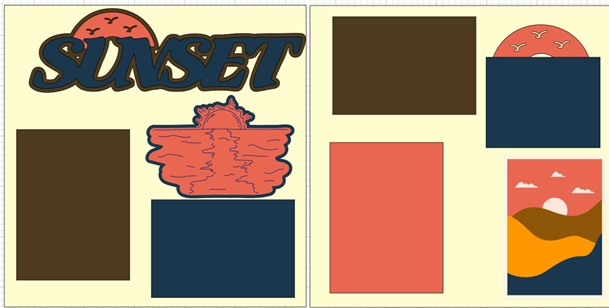 SUNSET   -  page kit