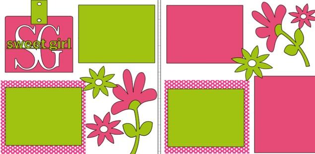 SWEET GIRL  -basic page kit