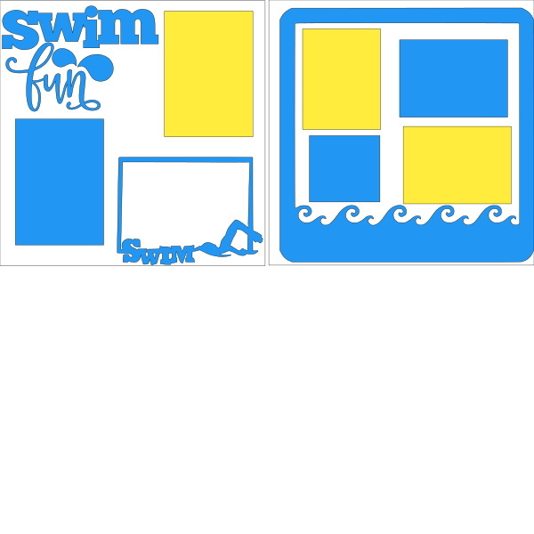 SWIM FUN   -basic page kit