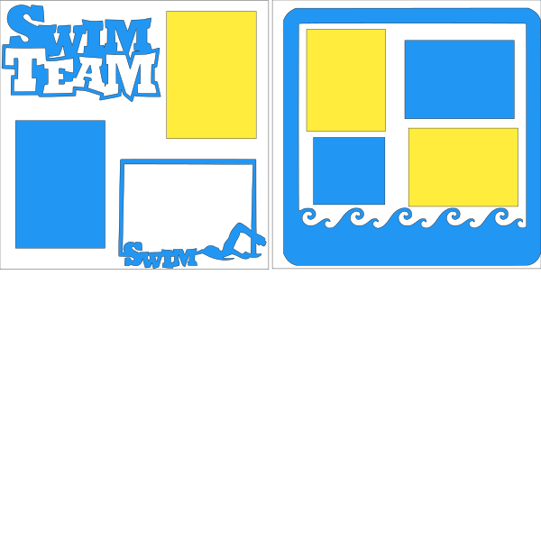 SWIM TEAM  -basic page kit