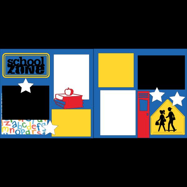 SCHOOL ZONE LOCKER  -basic page kit