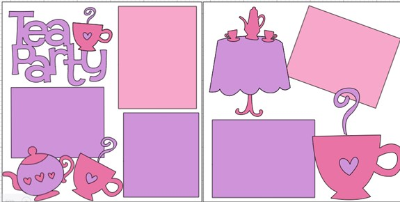 TEA PARTY  -  page kit
