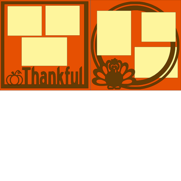 THANKFUL / THANKSGIVING OVERLAY   -basic page kit