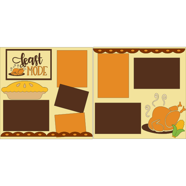 FEAST MODE THANKSGIVING  -basic page kit