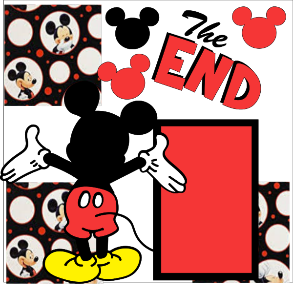 THE END.. DISNEY LAST PAGE  OR 1 PAGE page kit