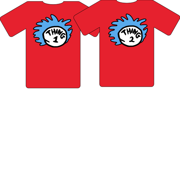 T-SHIRT THING 1 AND THING 2 (NUMBERS UP TO 10)