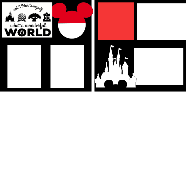 I think to myself what a wonderful world- Disney--  page kit
