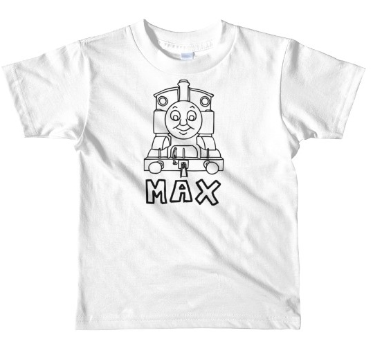 THOMAS THE TRAIN PERSONALIZED COLORING SHIRT