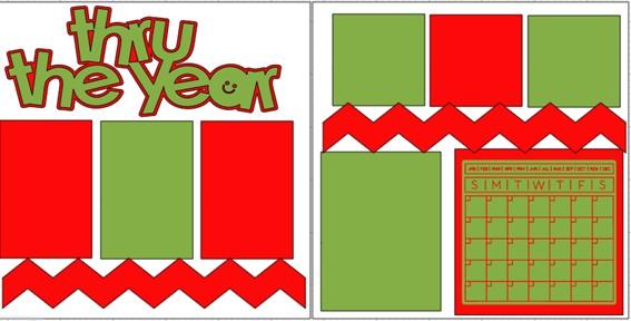 THRU THE YEAR  -  page kit