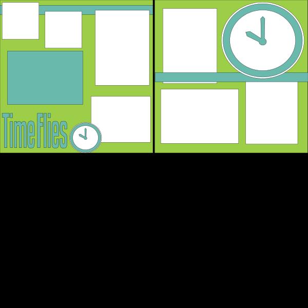 TIME FLIES  -basic page kit