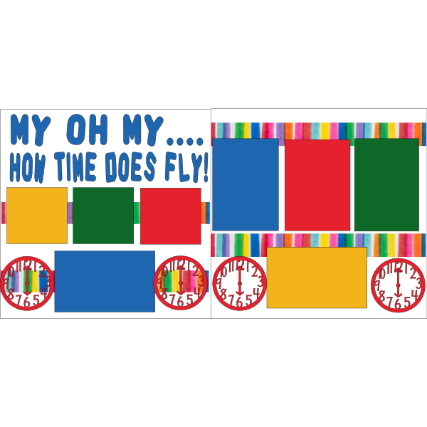 OH MY HOW TIME DOES FLY  -basic page kit