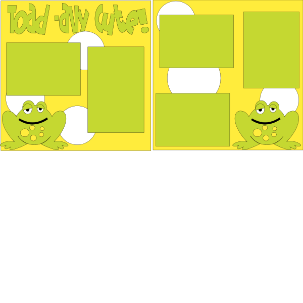 TOADALLY CUTE   -basic page kit