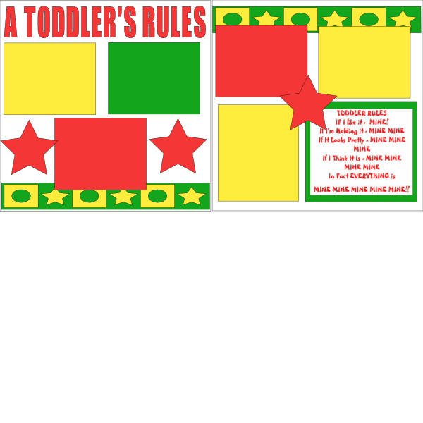 RULES OF A TODDLER  -basic page kit