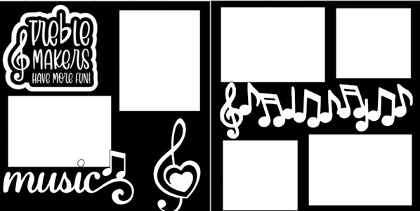 MUSIC TREBLE MAKERS HAVE MORE FUN  -  page kit