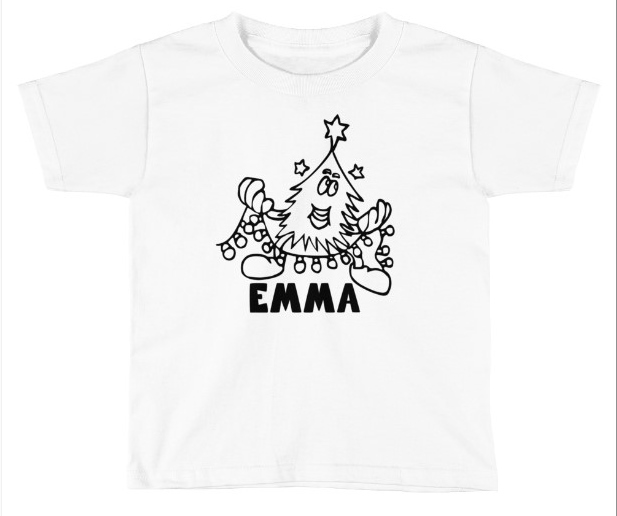 CHRISTMAS TREE *** -1 COLORING SHIRT