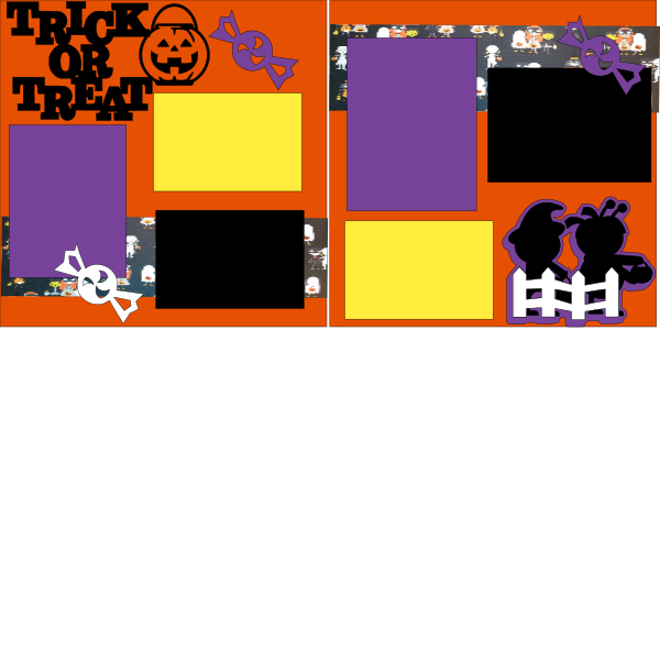 TRICK OR TREAT  -basic page kit