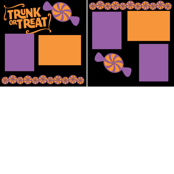 TRUNK OR TREAT  -basic page kit