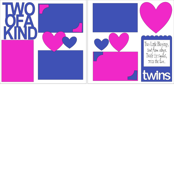 TWO OF A KIND (TWINS) BOY & GIRL -basic page kit