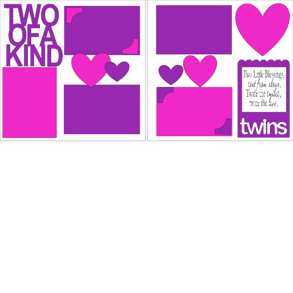 TWO OF A KIND (TWINS) GIRLS  -basic page kit