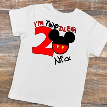 I'M TWODLES (2) BOY BIRTHDAY SHIRT DISNEY