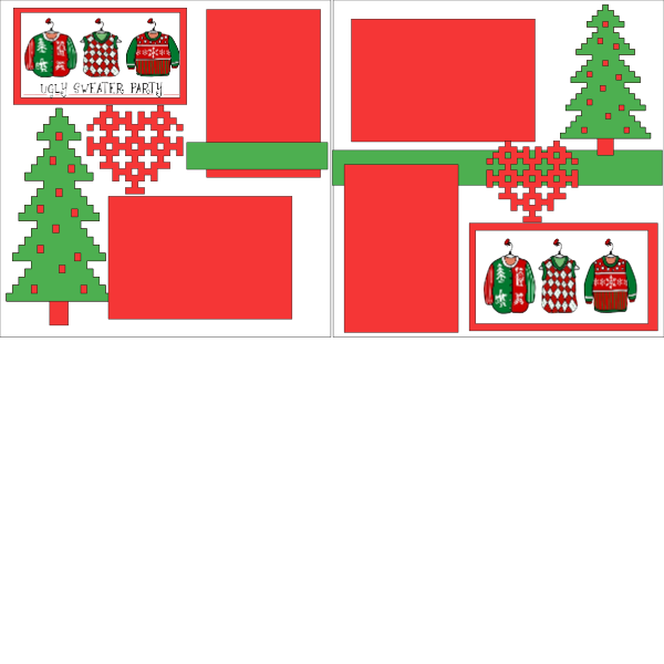 Christmas- Don we now our UGLY Sweaters -basic page kit