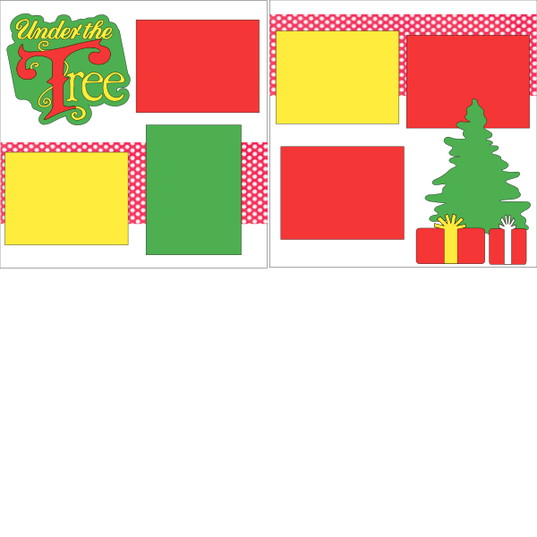 UNDER THE TREE CHRISTMAS   -basic page kit