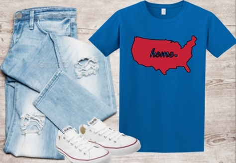 USA HOME T-SHIRT PATRIOTIC