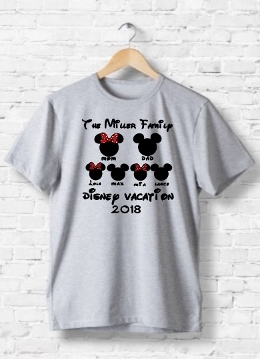 DISNEY HEAD PERSONALIZED VACATION SHIRTS