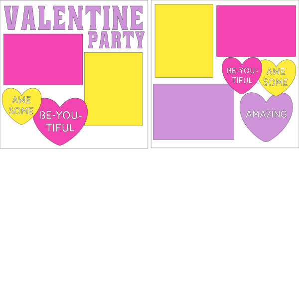 Valentine Party --  page kit