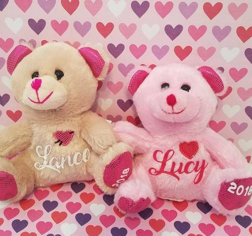 PERSONALIZED VALENTINES DAY BEARS (PINK)