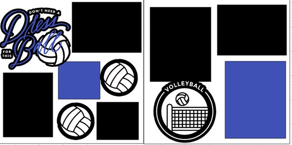 DON'T NEED A DRESS FOR THIS BALL VOLLEYBALL  -  page kit
