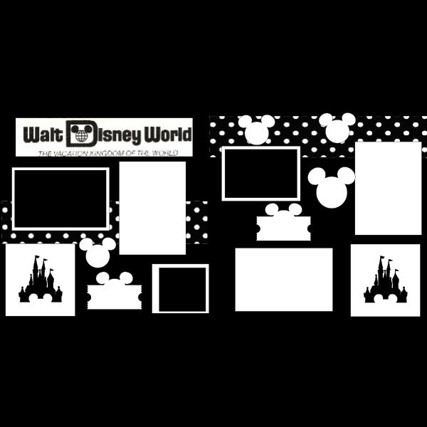 WALT DISNEY WORLD THE VACATION KINGDOM -DISNEY -basic page kit