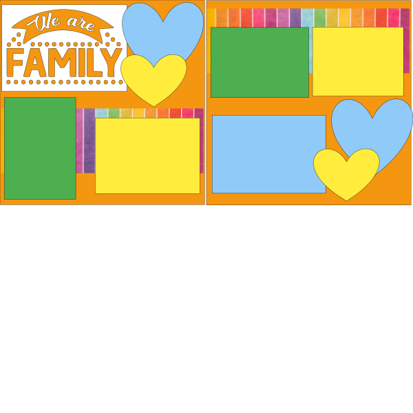 WE ARE FAMILY ***  -basic page kit