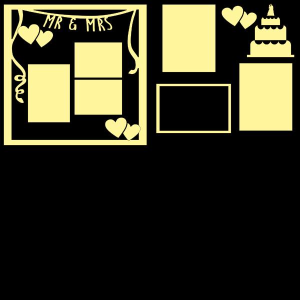 WEDDING - MR AND MRS-  -basic page kit