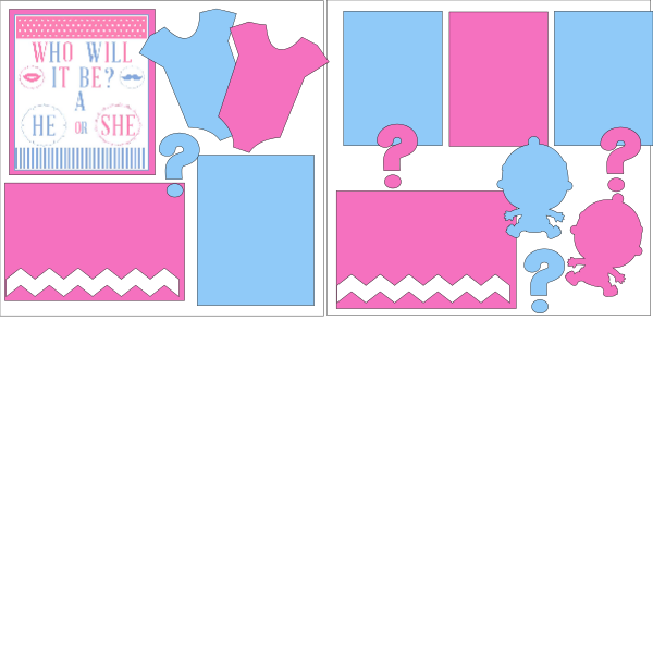 WHO WILL IT BE HE OR SHE? GENDER REVEAL  ... Page Kit