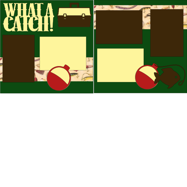 FISHING-WHAT A CATCH  -basic page kit