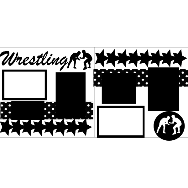 WRESTLING  -basic page kit