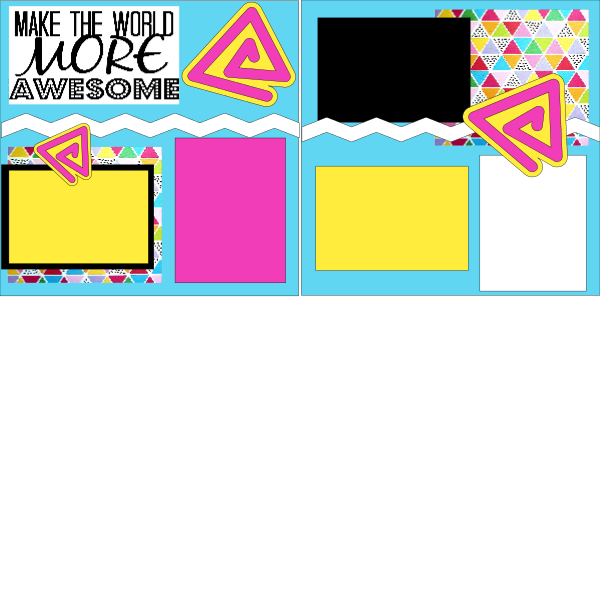 MAKE THE WORLD MORE AWESOME  -basic page kit