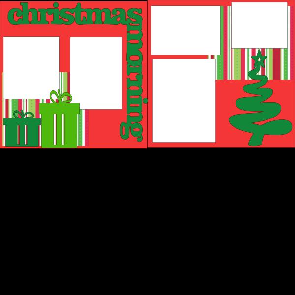 CHRISTMAS MORNING   -basic page kit