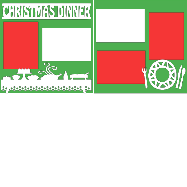 CHRISTMAS DINNER  -basic page kit