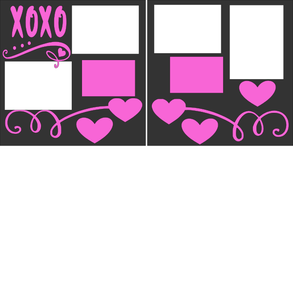 XOXO LOVE VALENTINES DAY --  page kit