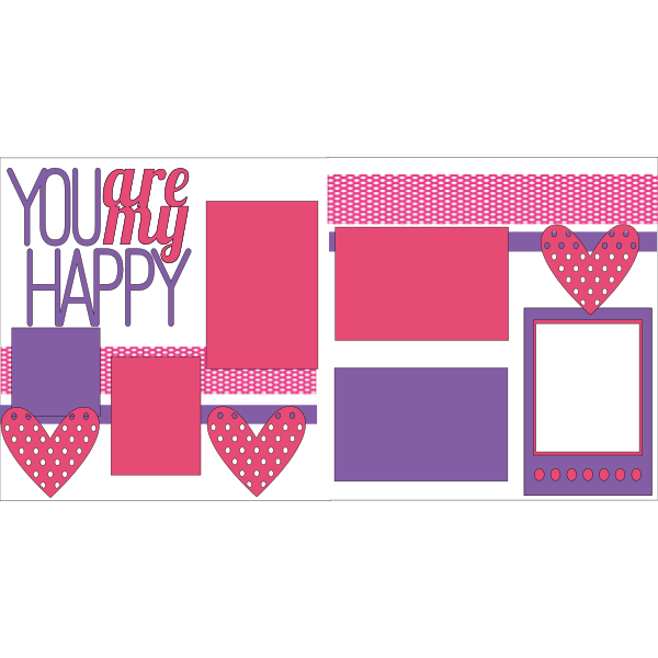 YOU ARE MY HAPPY  -basic page kit