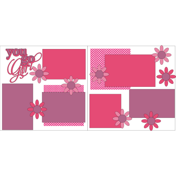 You go girl pink -basic page kit