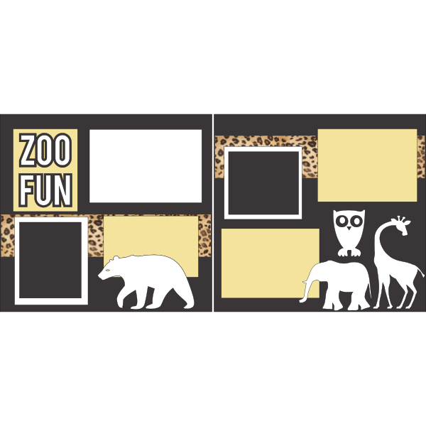 ZOO FUN  -basic page kit