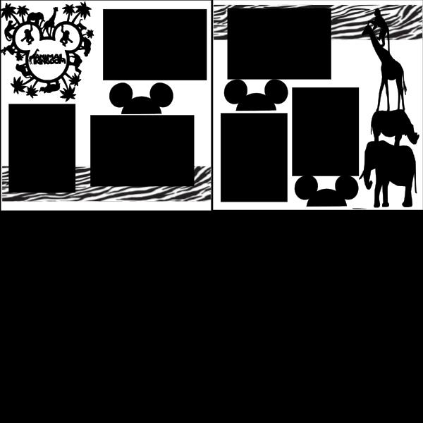Animal Kingdom Disney --  page kit