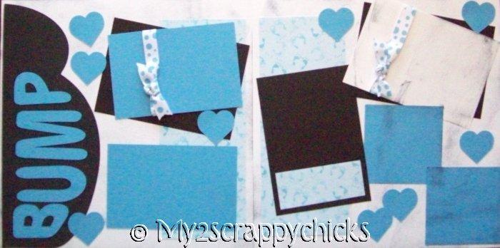Baby Bump - Boy  Pregnancy Page Kit