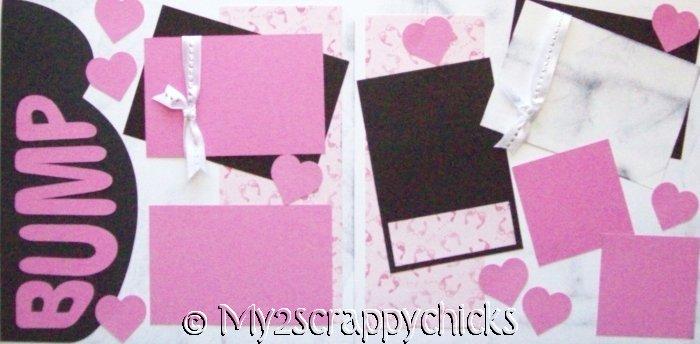 Baby Bump - Girl   Pregnancy Page Kit
