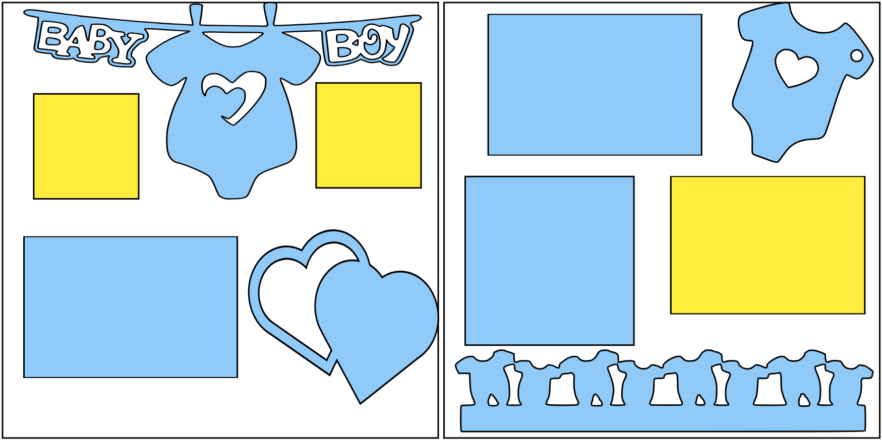 BABY BOY (HEARTS )   -basic page kit