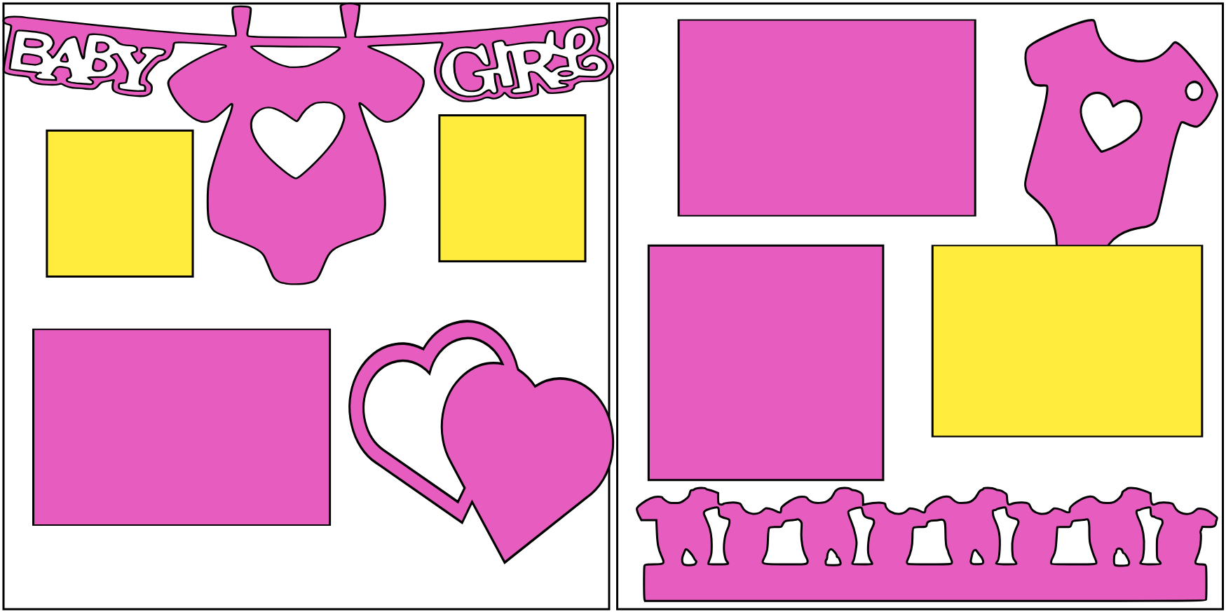 BABY GIRL (ONESIE HEARTS)   -basic page kit